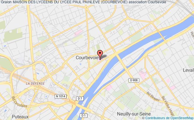 plan association Maison Des Lyceens Du Lycee Paul Painleve (courbevoie) Courbevoie