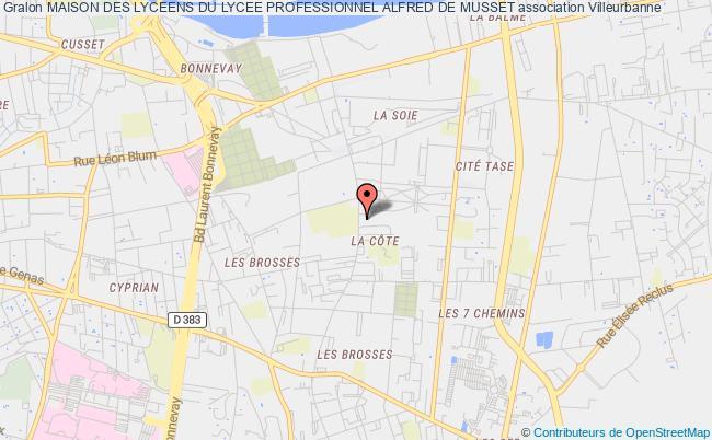 plan association Maison Des Lyceens Du Lycee Professionnel Alfred De Musset
