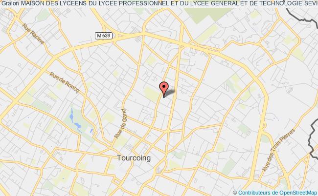 plan association Maison Des Lyceens Du Lycee Professionnel Et Du Lycee General Et De Technologie Sevigne