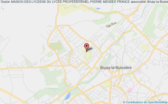 plan association Maison Des Lyceens Du LycÉe Professionnel Pierre Mendes France