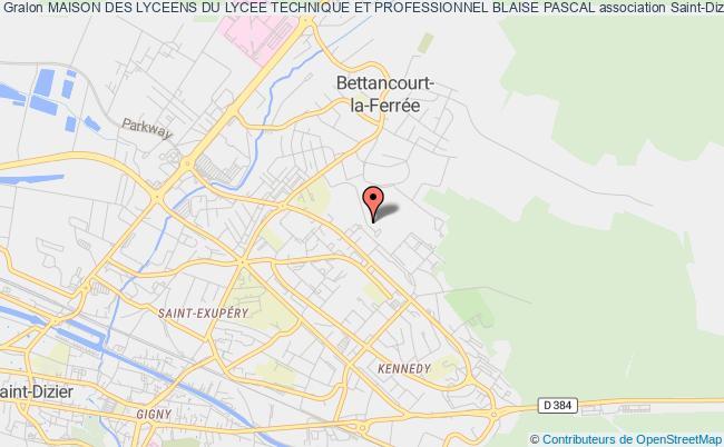 plan association Maison Des Lyceens Du Lycee Technique Et Professionnel Blaise Pascal