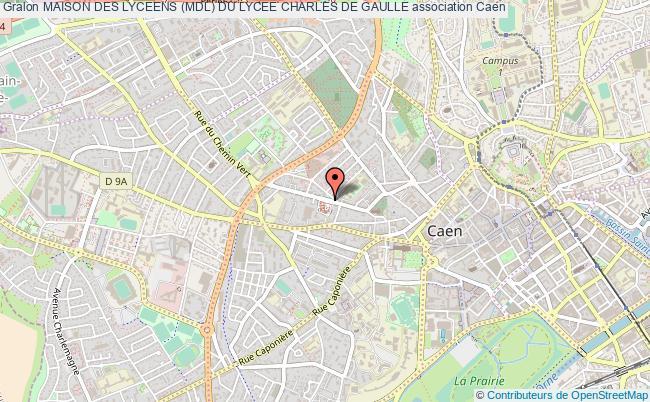 plan association Maison Des Lyceens (mdl) Du Lycee Charles De Gaulle