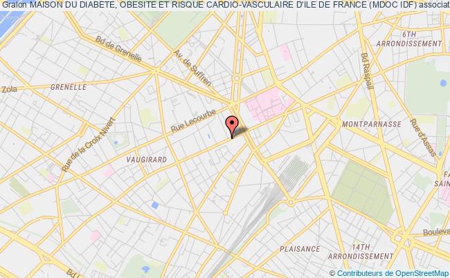 plan association Maison Du Diabete Obesite Et Risque Cardio Vasculaire De Paris Rive Gauche Maison Doc De Paris Rive Gauche Paris