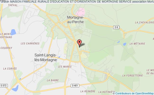 plan association Maison Familiale Rurale D'education Et D'orientation De Mortagne Service