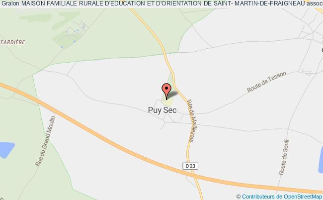 plan association Maison Familiale Rurale D'education Et D'orientation De Saint- Martin-de-fraigneau Saint-Martin-de-Fraigneau
