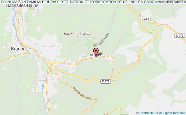 plan association Maison Familiale Rurale D'education Et D'orientation De Salins-les-bains Salins-les-Bains