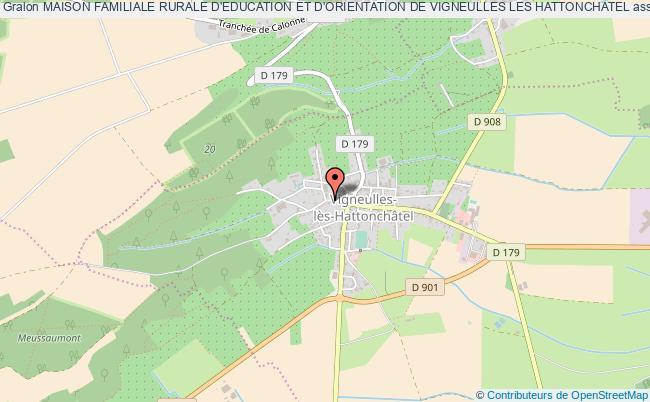 plan association Maison Familiale Rurale D'education Et D'orientation De Vigneulles Les Hattonchatel