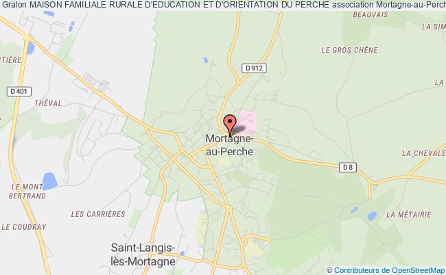 plan association Maison Familiale Rurale D'education Et D'orientation Du Perche