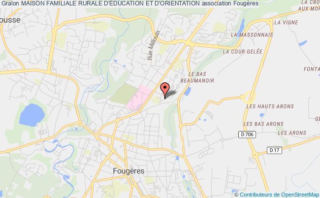 plan association Maison Familiale Rurale D'education Et D'orientation