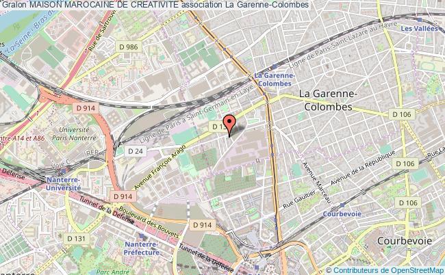 plan association Maison Marocaine De Creativite La    Garenne-Colombes