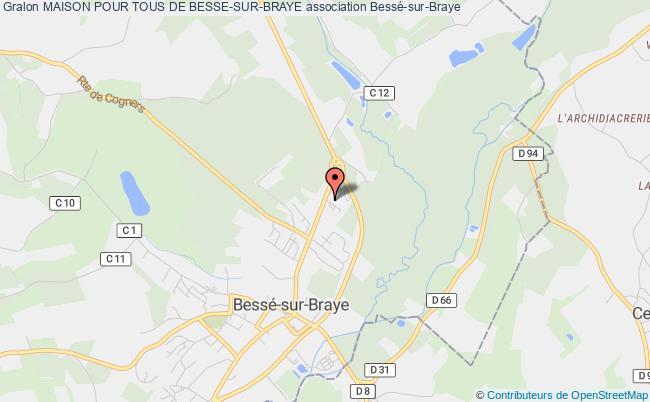 plan association Maison Pour Tous De Besse-sur-braye Bessé-sur-Braye