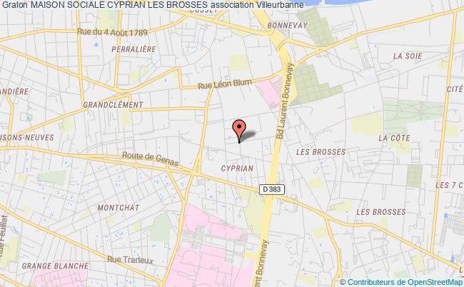 plan association Maison Sociale Cyprian Les Brosses