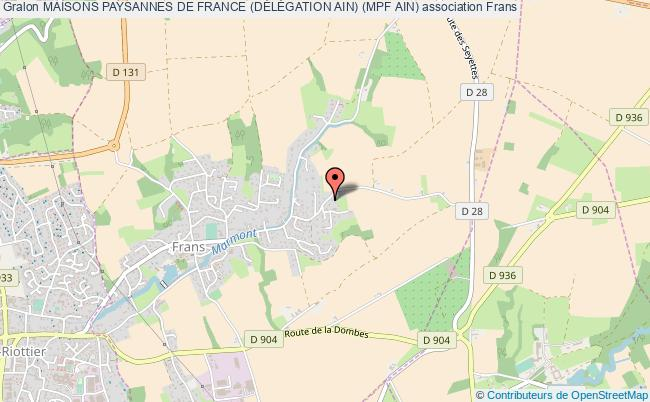 plan association Maisons Paysannes De France (dÉlÉgation Ain) (mpf Ain) Frans