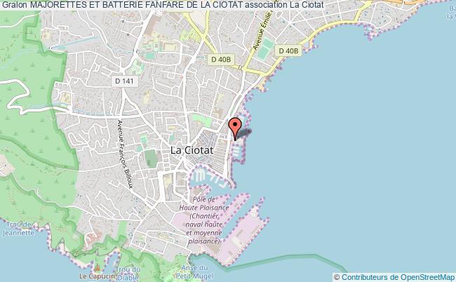 plan association Majorettes Et Batterie Fanfare De La Ciotat