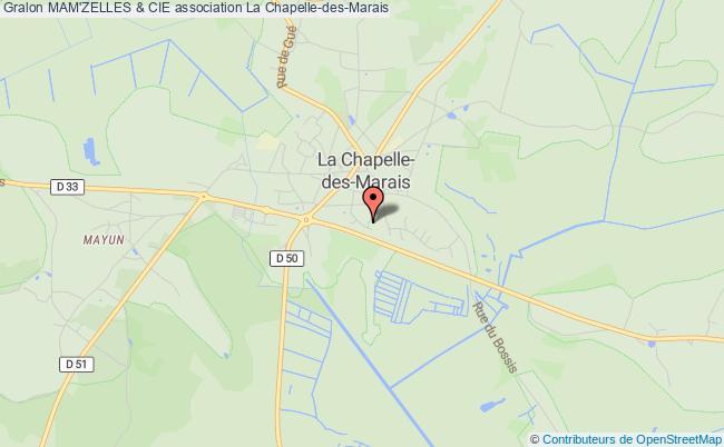 plan association Mam'zelles & Cie Chapelle-des-Marais