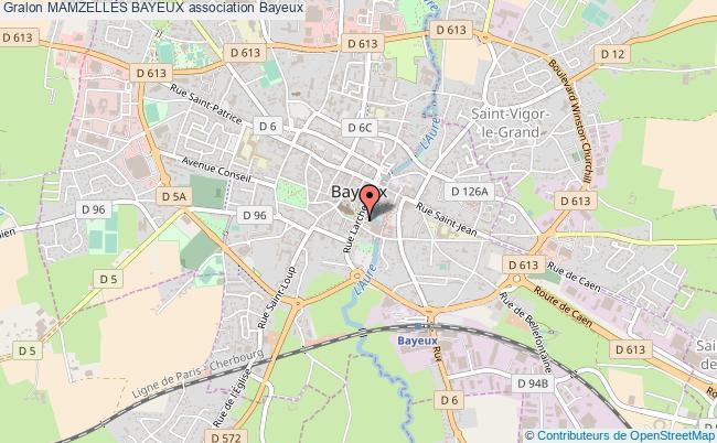 plan association Mamzelles Bayeux Bayeux