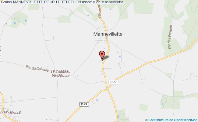 plan association Mannevillette Pour Le Telethon Mannevillette