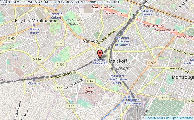 plan association M.a.p.a Paris Xxeme Arrondissement Malakoff