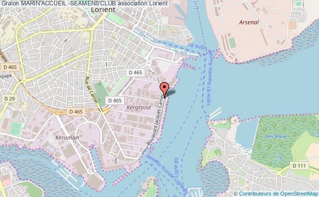 plan association Marin'accueil -seamens'club Lorient