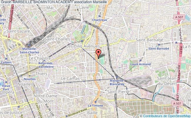 plan association Marseille Badminton Academy
