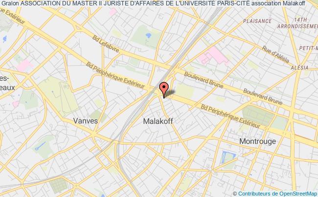 plan association Master Ii Juriste D'affaires De Paris V Malakoff