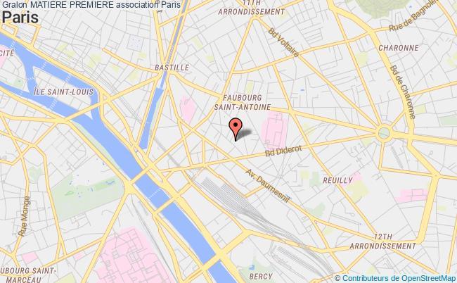 plan association Matiere Premiere Paris