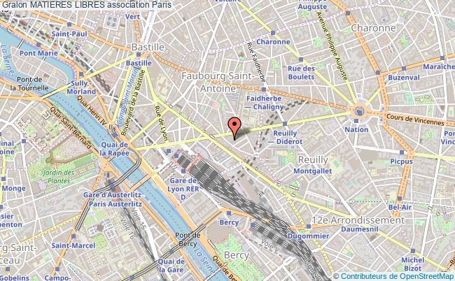 plan association Matieres Libres Paris