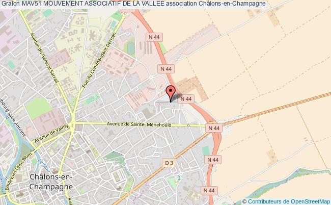 plan association Mav51 Mouvement Associatif De La Vallee