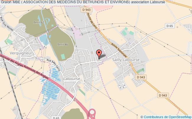 plan association Mbe ( Association Des Medecins Du Bethunois Et Environs)