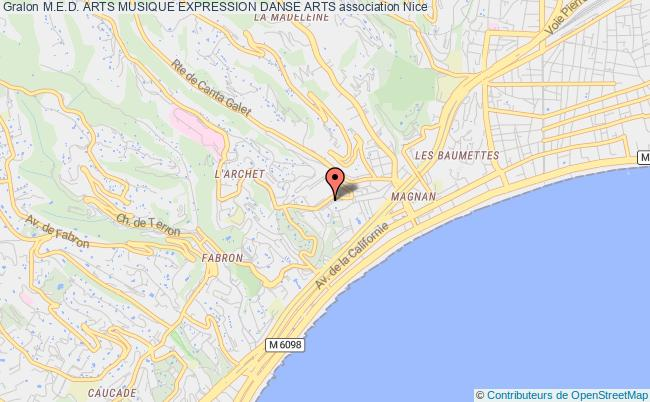 plan association M.e.d. Arts Musique Expression Danse Arts Nice
