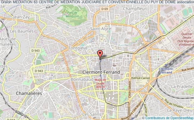 plan association Mediation 63 Centre De Mediation Judiciaire Et Conventionnelle Du Puy De Dome