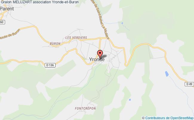 plan association MÉluzart Yronde-et-Buron