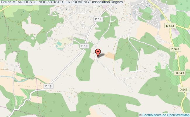 plan association Memoires De Nos Artistes En Provence