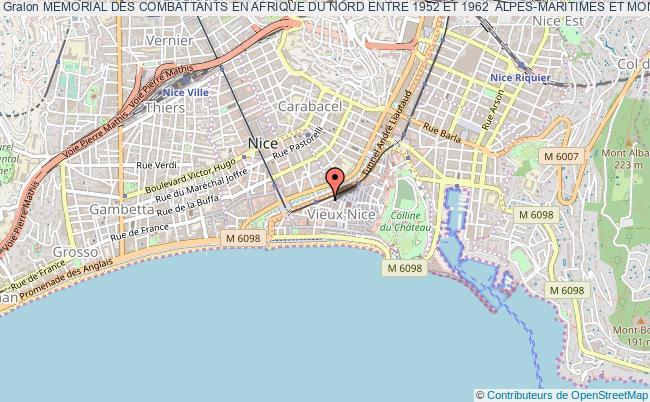 plan association Memorial Des Combattants En Afrique Du Nord Entre 1952 Et 1962  Alpes-maritimes Et Monaco Nice
