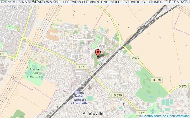 plan association Mila-na Mparano Wa Kweli De Paris ( Le Vivre Ensemble, Entraide, Coutumes Et Des Vrais Retrouvailles) Gonesse