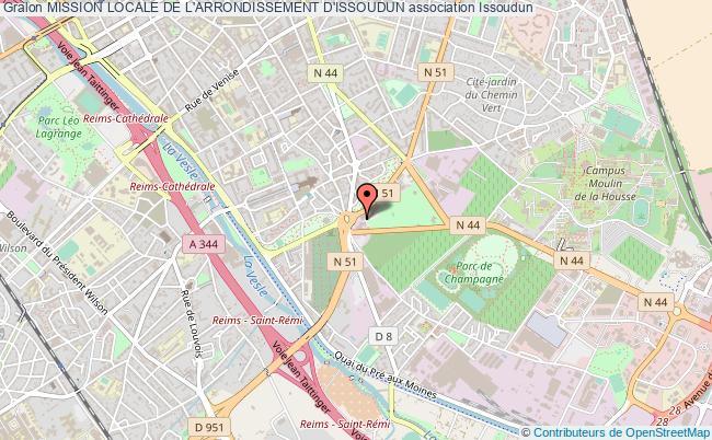 plan association Mission Locale De L'arrondissement D'issoudun Issoudun