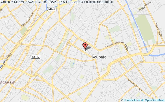plan association Mission Locale De Roubaix / Lys-lez-lannoy
