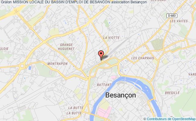 plan association Mission Locale Du Bassin D'emploi De Besancon Besançon Cedex
