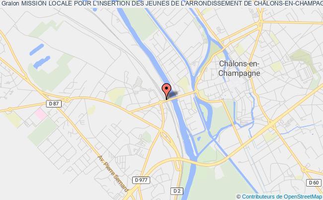 plan association Mission Locale Pour L'insertion Des Jeunes De L'arrondissement De ChÂlons-en-champagne