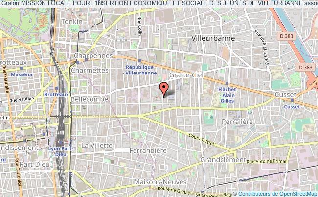 plan association Mission Locale Pour L'insertion Economique Et Sociale Des Jeunes De Villeurbanne