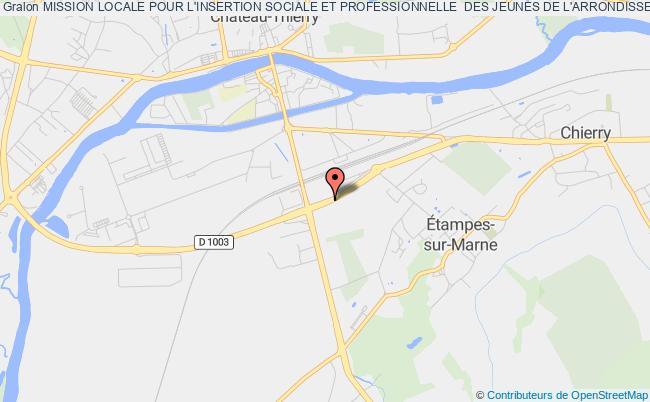 plan association Mission Locale Pour L'insertion Sociale Et Professionnelle  Des Jeunes De L'arrondissement De ChÂteau-thierry