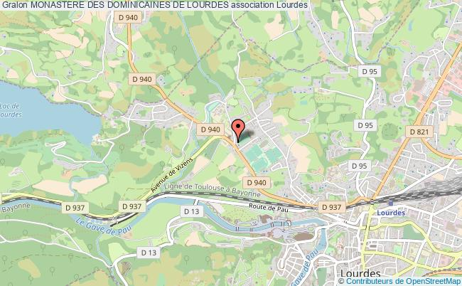 plan association Monastere Des Dominicaines De Lourdes Lourdes