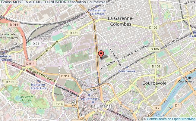 plan association Moneta Alexis Foundation Courbevoie