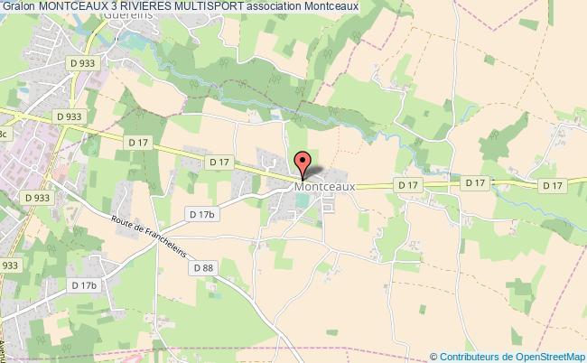 plan association Montceaux 3 Rivieres Multisport Montceaux