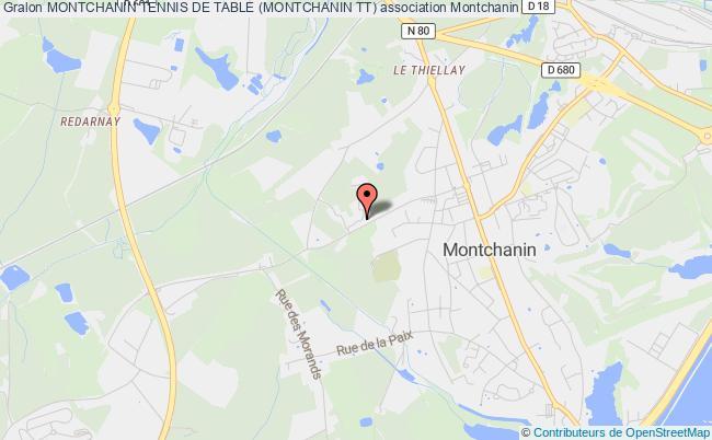 plan association Montchanin Tennis De Table (montchanin Tt)