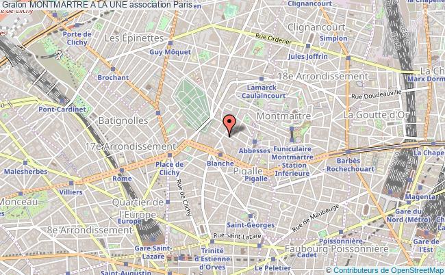 plan association Montmartre A La Une