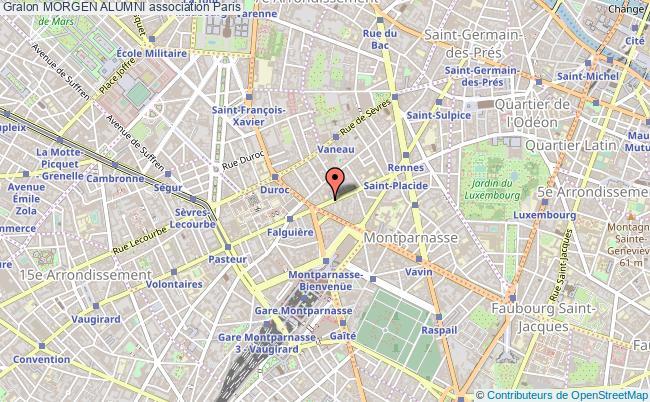 plan association Morgen Alumni Paris 6e