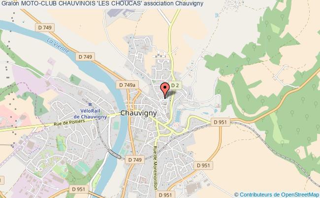 plan association Moto-club Chauvinois 'les Choucas'