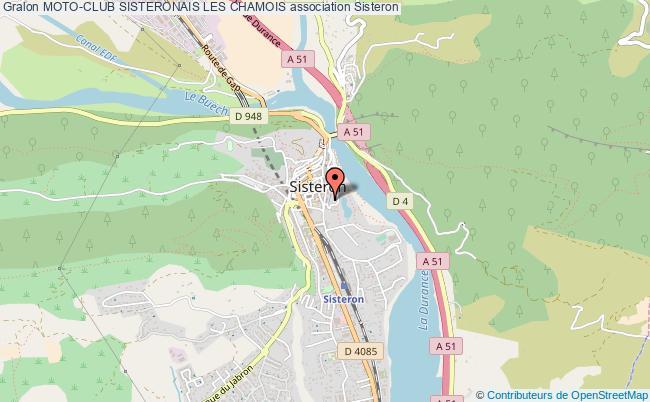 plan association Moto-club Sisteronais Les Chamois