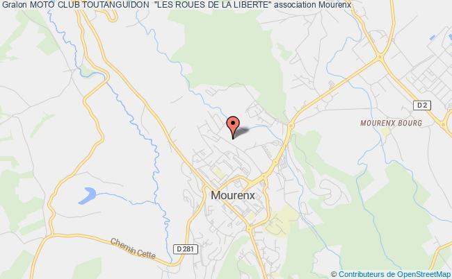 "plan association Moto Club Toutanguidon  ""les Roues De La Liberte"""